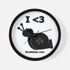 I <3 Turbo Snail - Wall Clock by BoostGear.com