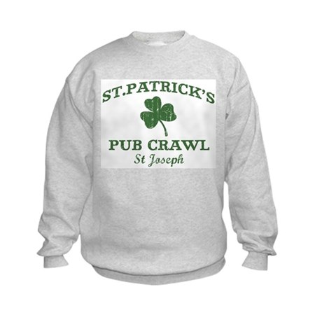 St Joseph pub crawl Kids Sweatshirt