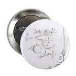 """Merry Christmas Greeting 2.25"""" Button (100 pack)"""