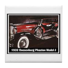 """""""1932 Duesenberg"""" Tile Coaster"""