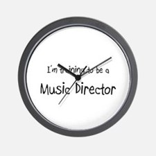 I'm training to be a Music Director Wall Clock
