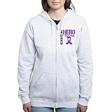 Pancreatic Cancer Mom Zip Hoodie