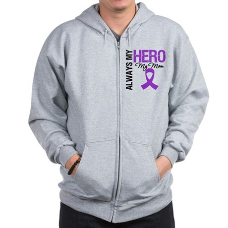 Pancreatic Cancer Mom Zip Hoodie