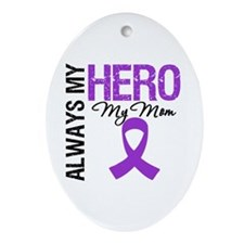 Pancreatic Cancer Mom Oval Ornament
