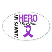 Pancreatic Cancer Mom Oval Sticker (10 pk)