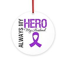 Pancreatic Cancer Husband Ornament (Round)