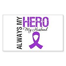 Pancreatic Cancer Husband Rectangle Decal