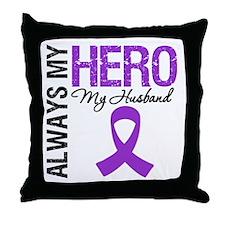 Pancreatic Cancer Husband Throw Pillow