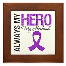 Pancreatic Cancer Husband Framed Tile
