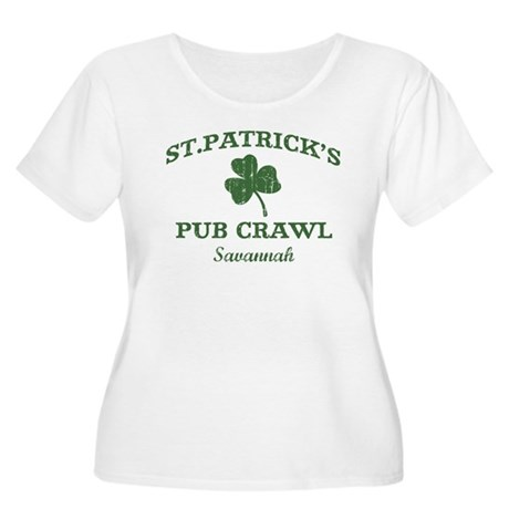 Savannah pub crawl Women's Plus Size Scoop Neck T-