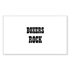 BOXERS ROCK Rectangle Decal