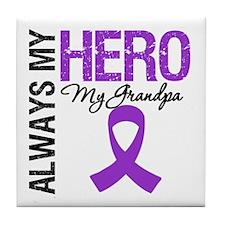 Pancreatic Cancer Grandpa Tile Coaster