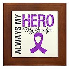 Pancreatic Cancer Grandpa Framed Tile