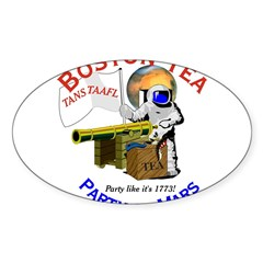 Boston Tea Party of Mars Oval Decal
