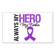Pancreatic Cancer Father Rectangle Decal