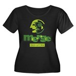 Merge Women's Plus Size Scoop Neck Dark T-Shirt