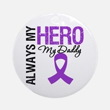 Pancreatic Cancer Daddy Ornament (Round)