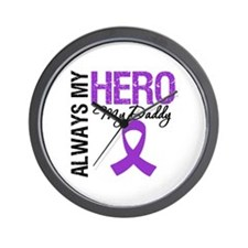 Pancreatic Cancer Daddy Wall Clock