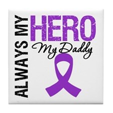 Pancreatic Cancer Daddy Tile Coaster