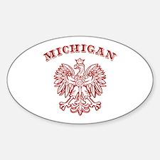 Michigan Polish Oval Decal