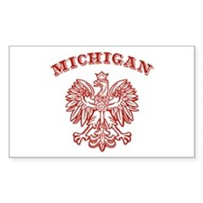 Michigan Polish Rectangle Decal