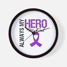 Pancreatic Cancer Dad Wall Clock