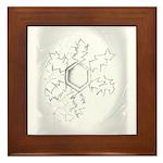 Snow Flower Framed Tile