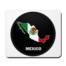 Flag Map of Mexico Mousepad