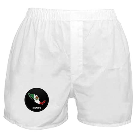 Flag Map of Mexico Boxer Shorts