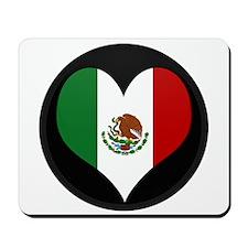 I love Mexico Flag Mousepad