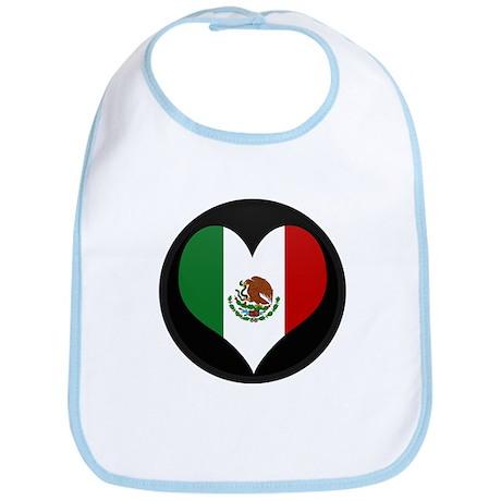 I love Mexico Flag Bib