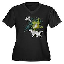 Setter Grunge Women's Plus Size V-Neck T-Shirt