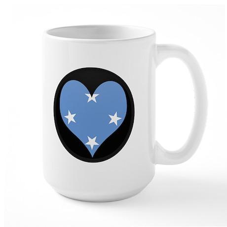 I love micronesia Flag Large Mug