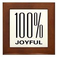 100 Percent Joyful Framed Tile
