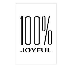 100 Percent Joyful Postcards (Package of 8)