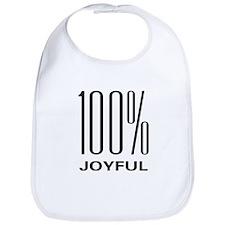 100 Percent Joyful Bib