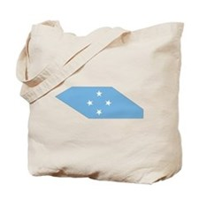 micronesia Flag Map Tote Bag