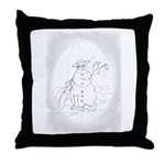 Snow Man Throw Pillow