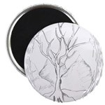 "Tree in winter 2.25"" Magnet (100 pack)"