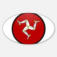 Isle of Man Oval Decal
