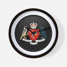 Coat of Arms of Isle of Man Wall Clock