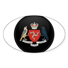 Coat of Arms of Isle of Man Oval Decal