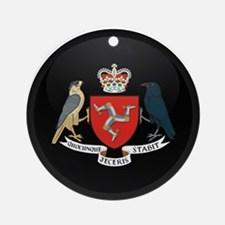 Coat of Arms of Isle of Man Ornament (Round)
