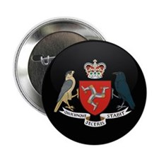 "Coat of Arms of Isle of Man 2.25"" Button"