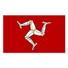 Isle of Man Flag Rectangle Decal