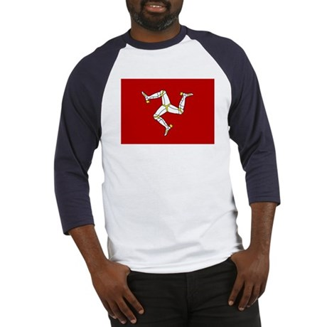 Isle of Man Flag Baseball Jersey