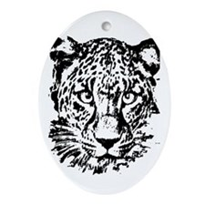Cute Big cat rescue Oval Ornament