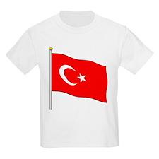 Turkey Flagpole Kids T-Shirt