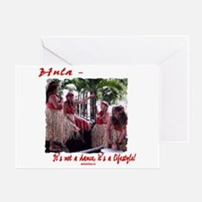 Hula Lifestyle - Four Graces Greeting Card