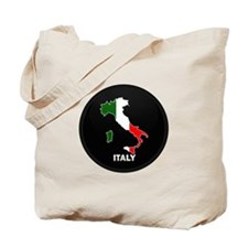 Flag Map of Italy Tote Bag